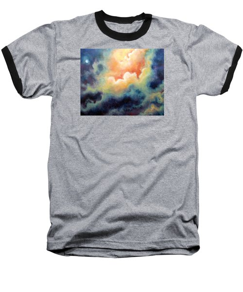 In The Beginning Baseball T-Shirt by Marina Petro