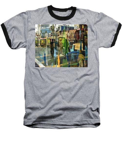 Baseball T-Shirt featuring the photograph In The City by Vladimir Kholostykh