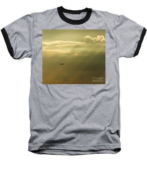 In The Clouds  Baseball T-Shirt by Christy Ricafrente