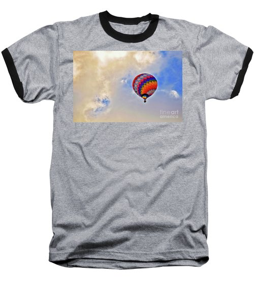 Baseball T-Shirt featuring the photograph In The Clouds by Gina Savage