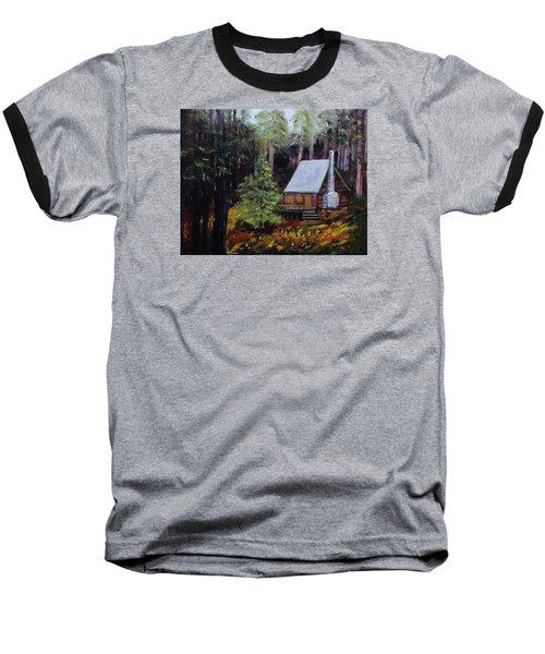In The Deep Woods Baseball T-Shirt by Mike Caitham