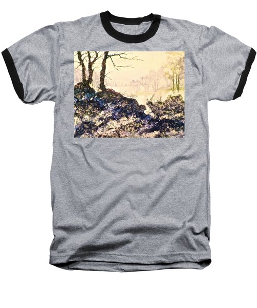 Baseball T-Shirt featuring the painting In The Distance by Carolyn Rosenberger