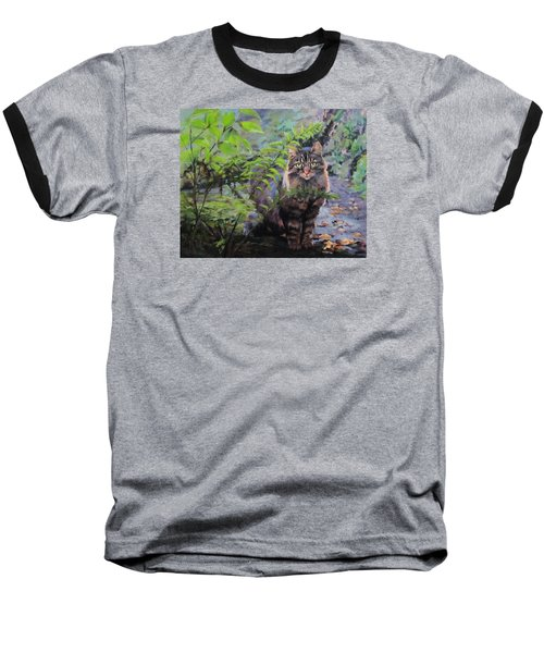 In The Forest Baseball T-Shirt by Karen Ilari