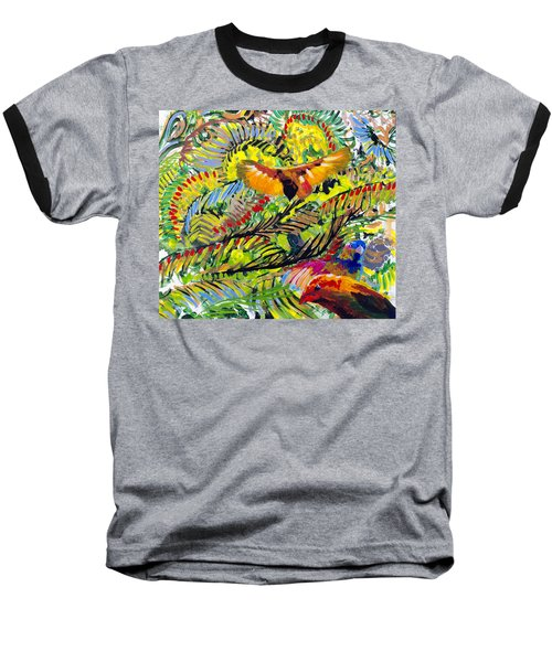 Birds In The Forest Baseball T-Shirt