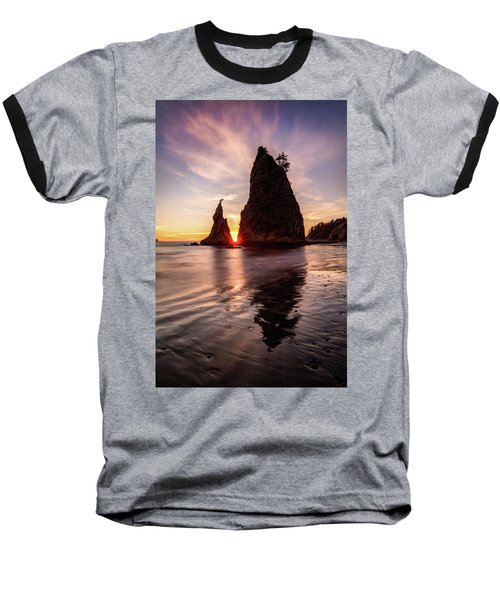 Baseball T-Shirt featuring the photograph In The Heart Of The Sea Stacks by Pierre Leclerc Photography