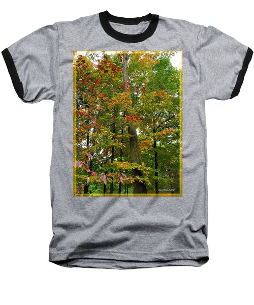 Baseball T-Shirt featuring the photograph In The Height Of Autumn by Joan  Minchak