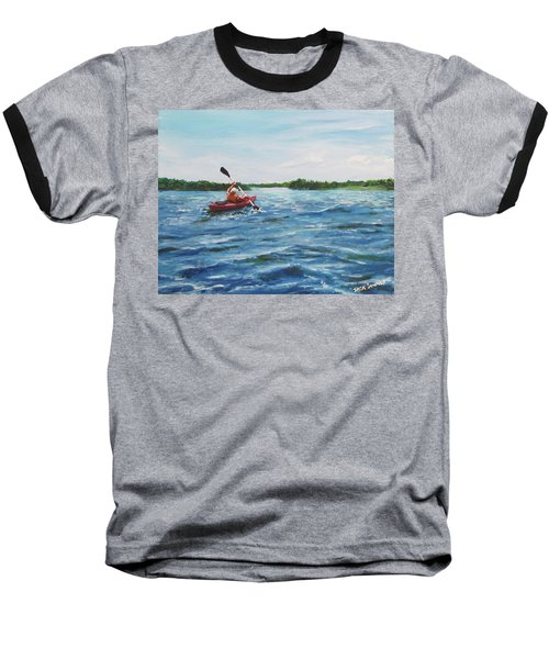In The Kayak Baseball T-Shirt by Jack Skinner
