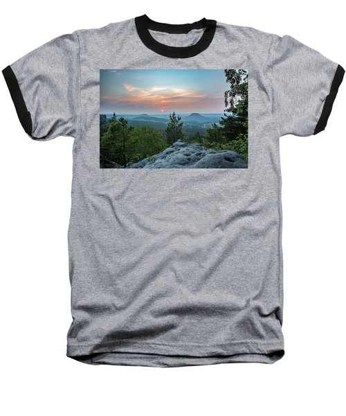 In The Land Of Mesas Baseball T-Shirt by Andreas Levi