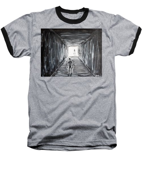 Baseball T-Shirt featuring the painting In The Light Of The Living by Antonio Romero