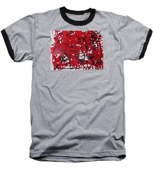 Baseball T-Shirt featuring the painting In  The Midst Of Passion by Sharyn Winters
