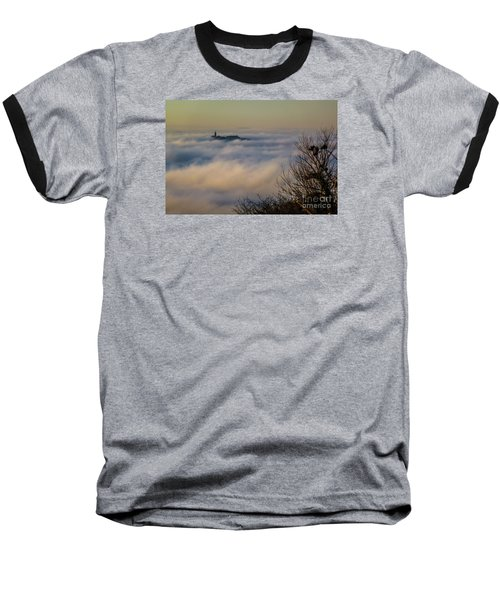 In The Mist 1 Baseball T-Shirt by Jean Bernard Roussilhe