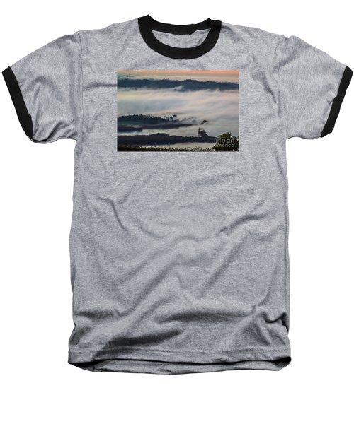 In The Mist 2 Baseball T-Shirt by Jean Bernard Roussilhe