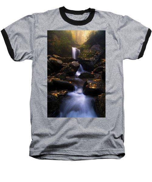 In The Mist Baseball T-Shirt by Bjorn Burton