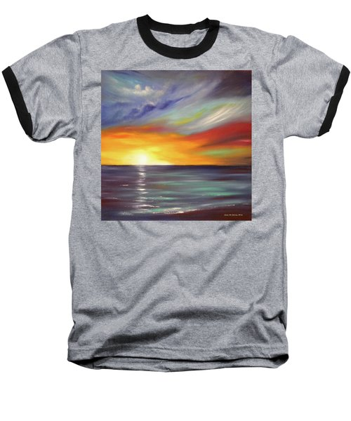 In The Moment Square Sunset Baseball T-Shirt