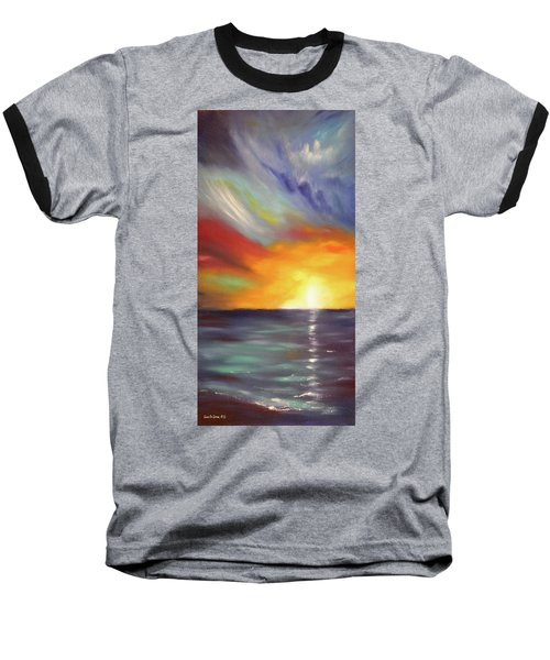 In The Moment - Vertical Sunset Baseball T-Shirt