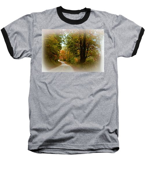 Baseball T-Shirt featuring the digital art In The Mountains Of Georgia by Sharon Batdorf