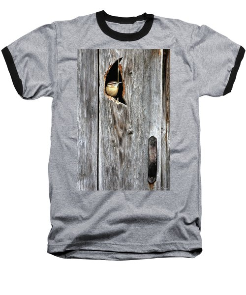 In The Outhouse Shed Baseball T-Shirt