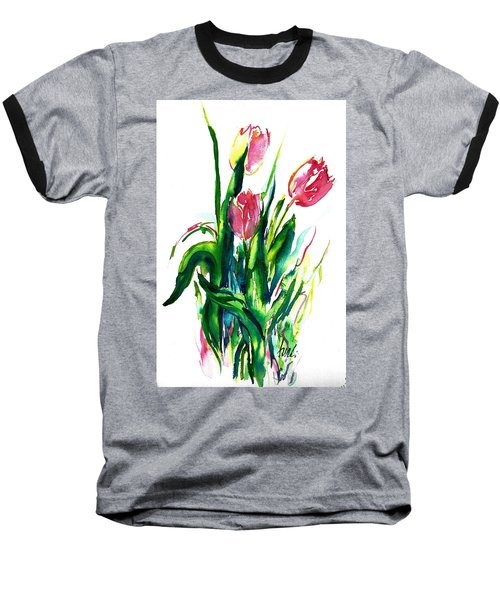 In The Pink Tulips Baseball T-Shirt