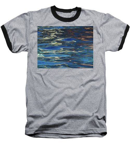In The Pool Baseball T-Shirt by Evelyn Tambour