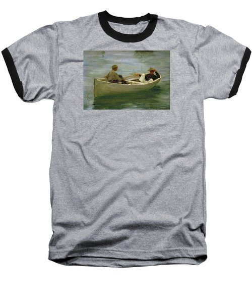 In The Rowing Boat Baseball T-Shirt by Henry Scott Tuke