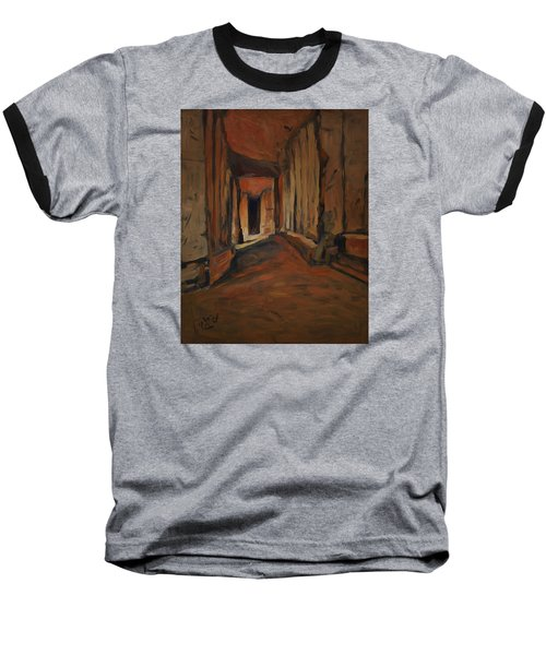 Baseball T-Shirt featuring the painting l'Origine de Maestricht Sint Pieter Maastricht  by Nop Briex