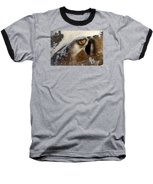 Baseball T-Shirt featuring the photograph In The Sand by Aaron Whittemore