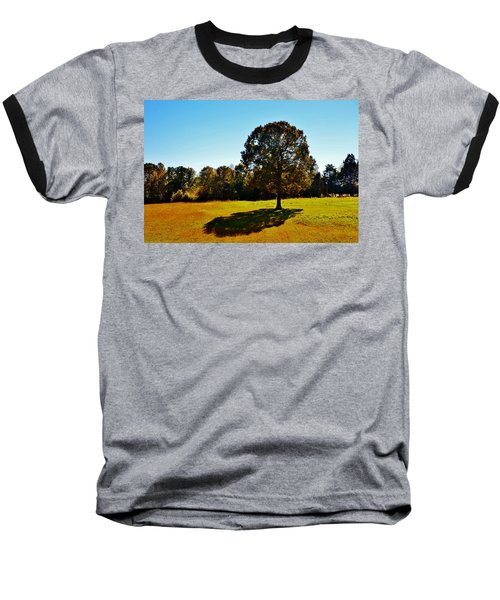 In The Shadow Of A Tree Baseball T-Shirt