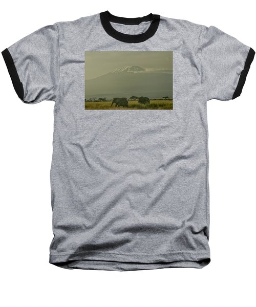 Baseball T-Shirt featuring the photograph In The Shadow Of Kilimanjero by Gary Hall