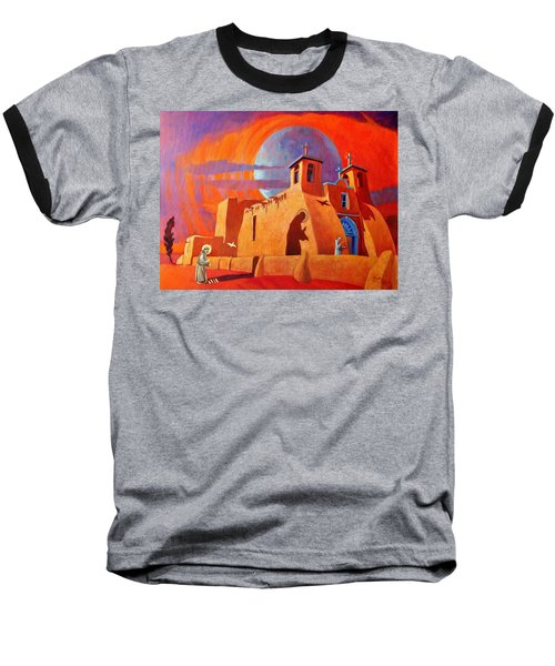 Baseball T-Shirt featuring the painting In The Shadow Of St. Francis by Art West