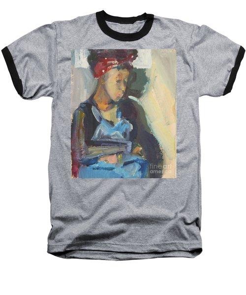 In The Still Of Quiet Baseball T-Shirt by Daun Soden-Greene