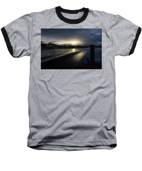Baseball T-Shirt featuring the photograph In The Wake Zone by Laura Fasulo