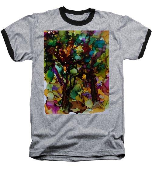 In The Woods Baseball T-Shirt by Alika Kumar