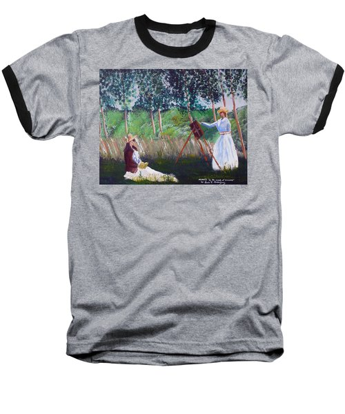 In The Woods At Giverny Baseball T-Shirt by Luis F Rodriguez