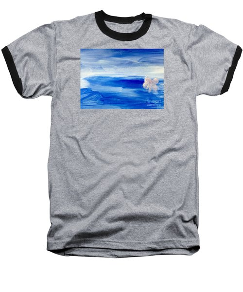 Baseball T-Shirt featuring the painting In This Sea Of Life by Trilby Cole