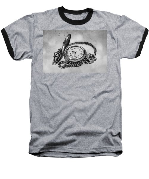 In Time Baseball T-Shirt by Martina Fagan