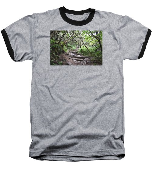 The Enchanted Forest Path Baseball T-Shirt by Gary Smith
