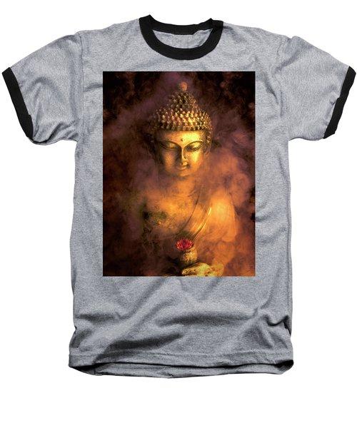 Baseball T-Shirt featuring the photograph Incense Buddha by Daniel Hagerman