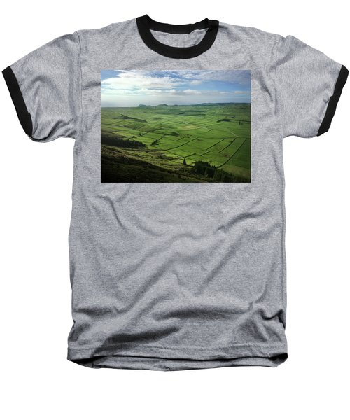 Incide The Bowl Terceira Island, Azores, Portugal Baseball T-Shirt by Kelly Hazel
