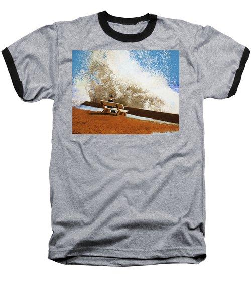 Incoming Baseball T-Shirt by Thomas Blood