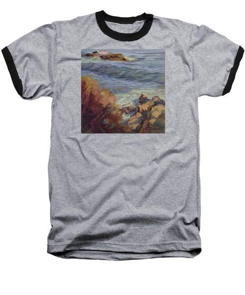 Incoming Wave Baseball T-Shirt by Jane Thorpe