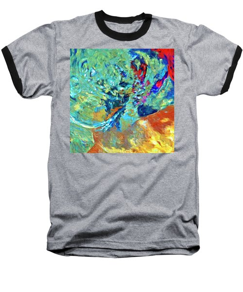 Baseball T-Shirt featuring the painting Incursion by Dominic Piperata