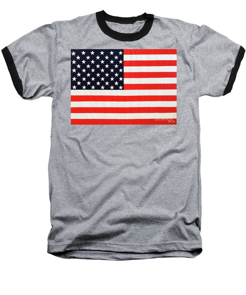 Pooling Independence Day Large Scale Oil On Canvas Original United States Flag Baseball T-Shirt