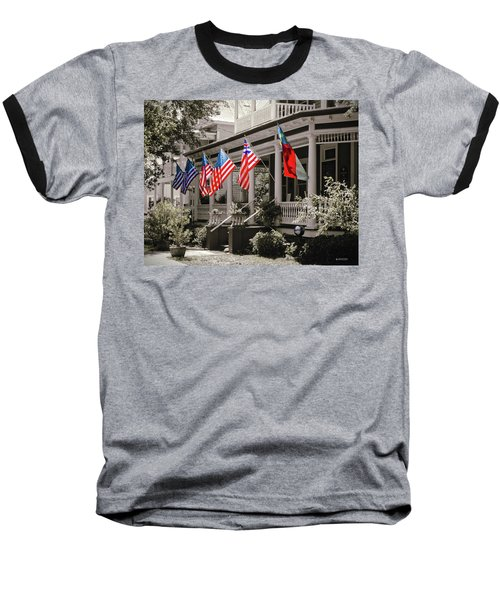 Independence Day Southport Style Baseball T-Shirt by Phil Mancuso