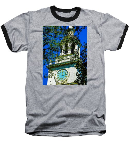 Independence Hall Clock Tower Baseball T-Shirt