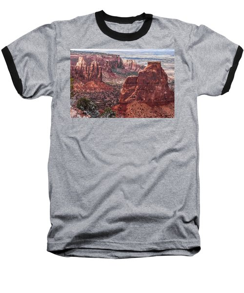 Independence Monument At Colorado National Monument Baseball T-Shirt