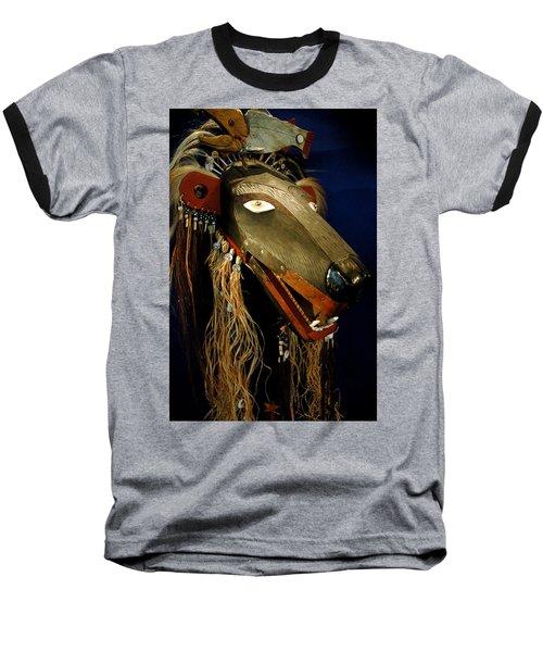 Indian Animal Mask Baseball T-Shirt by LeeAnn McLaneGoetz McLaneGoetzStudioLLCcom