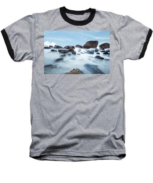 Indian Beach At Ecola State Park, Oregon  Baseball T-Shirt