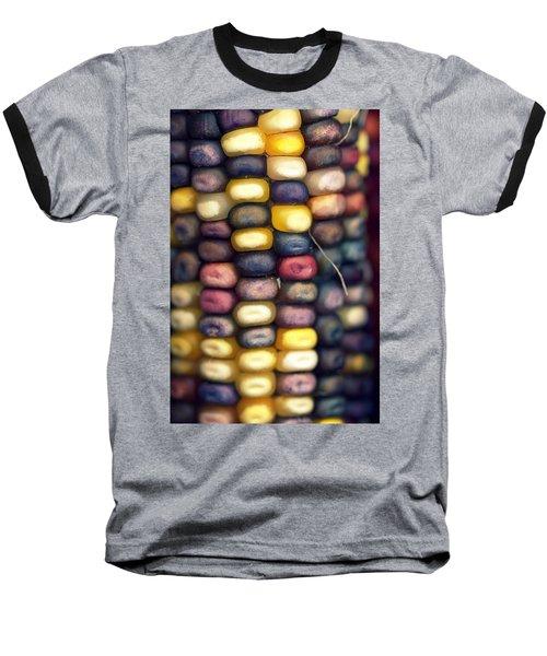 Indian Corn Baseball T-Shirt by Joseph Skompski