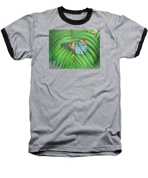 Indian Head Butterfly Baseball T-Shirt