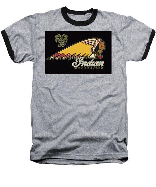 Indian Motorcycle Logo Series 2 Baseball T-Shirt